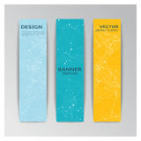 Template of banner  with abstract elements Stock Image