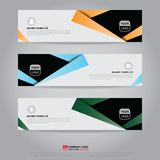 Template of banner, brochure, flyer and card voucher for header royalty free illustration