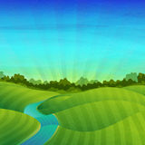 Template banner design, posters. Landscape with Royalty Free Stock Photo