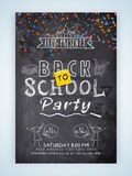 Template, banner or flyer for Back to School. Royalty Free Stock Photography