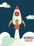Template, banner or flyer for business startup. Royalty Free Stock Photos