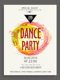 Template, banner or flyer for Dance Party. Stock Images