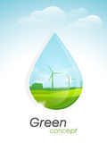 Template, banner or flyer for Go Green concept. Stock Photos