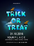 Template, banner or flyer for Halloween Party. Royalty Free Stock Images