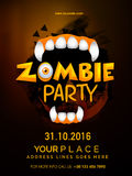 Template, banner or flyer for Halloween Party. Royalty Free Stock Photo