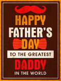Template, banner or flyer for Happy Fathers Day. Royalty Free Stock Images