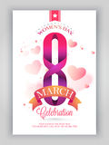 Template, Banner or Flyer for International Women's Day. Royalty Free Stock Images