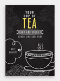 Template, Banner, Flyer or Menu Card for Cafe. Stock Photo