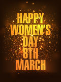Template, Banner or Flyer for Women's Day celebration. Stock Photo