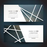 Template. banner set. business card Stock Image
