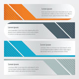 Template banner set  Orange , blue, gray color. Vector design eps10 Royalty Free Stock Images