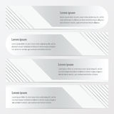 Template banner set    white color. Vector design eps10 Royalty Free Stock Photo