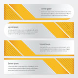 Template banner set yellow color. Vector design eps10 Royalty Free Stock Images