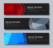 Template banners with abstract background polygon and geometric. Design of horizontal banners standard size. Template abstract background polygon and geometric Stock Image