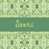 Template for banners or vintage greeting card. Ethnic paisley ornament Stock Photo
