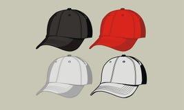 Template baseball cap. Design template for baseball caps front stock illustration