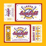 Template for baseball ticket Royalty Free Stock Images