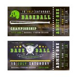 Template for baseball ticket. Print on blurred background Royalty Free Stock Image
