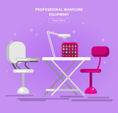 Template for beauty saloon Royalty Free Stock Photo