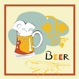 Template for Beer menu Stock Photo