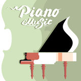 Template billboard music concert. Piano abstract Stock Images