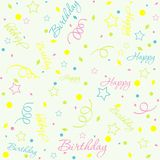 Template birthday background Stock Images