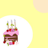 Template for birthday card. Template for birthday and decorative card royalty free illustration