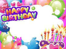 Template for Birthday card with place for text royalty free stock image