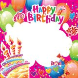 Template for Birthday card with place for text royalty free stock images