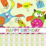 Template birthday greeting card Royalty Free Stock Image