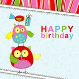 Template birthday greeting card Stock Image
