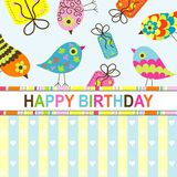 Template birthday greeting card Stock Photos