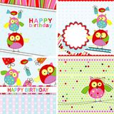 Template birthday greeting card Royalty Free Stock Photo