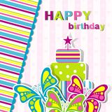 Template birthday greeting card Royalty Free Stock Images