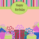 Template birthday greeting card Stock Photography