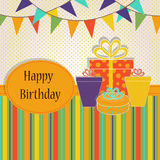 Template Birthday greeting card Royalty Free Stock Photography