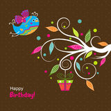 Template birthday greeting card, vector Stock Photography