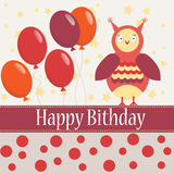 Template bithday greeting card Royalty Free Stock Photo