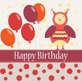 Template bithday greeting card Stock Photo