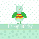 Template bithday greeting card Stock Photography