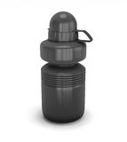 Template black collapsible sport water bottle for your design Royalty Free Stock Photography
