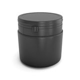 Template black plastic can for products Stock Photo