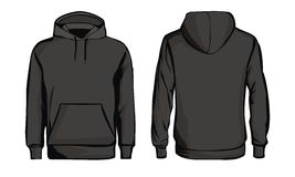 Template black sweatshirt Stock Image