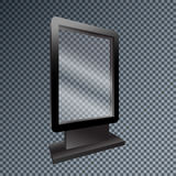 Template blank mockup outdoor lightbox for advertising and corpo Royalty Free Stock Photos