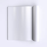 Template blank pages of an open journal, newspapers or books. 3d illustration. Top view Royalty Free Stock Photo
