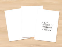 Template of blank paper sheet on a wooden Royalty Free Stock Image