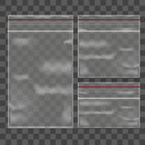 Template Blank Transparent Package Set. Vector Royalty Free Stock Photography