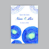 A4 Template With Blue Lotus Royalty Free Stock Photography