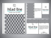 Template of book cover for brochure,flyer,annual report .Vector design illustration eps10 Stock Image