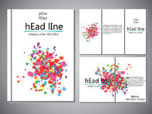 Template of book cover for brochure,flyer,annual report .Vector design illustration eps10 Royalty Free Stock Photo